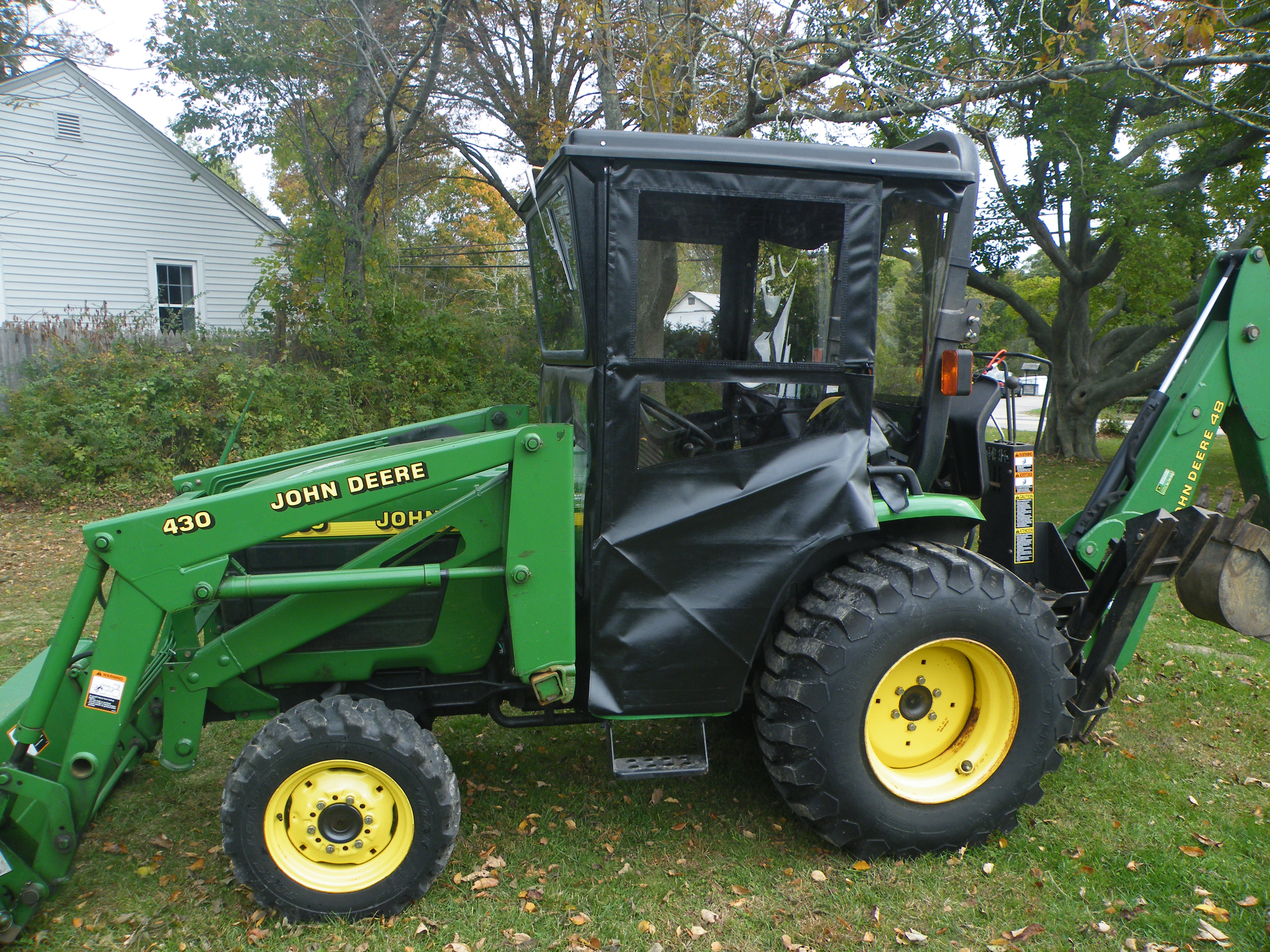 John Deere Lawn Tractor Enclosures : Hard top cab enclosure for compact utility