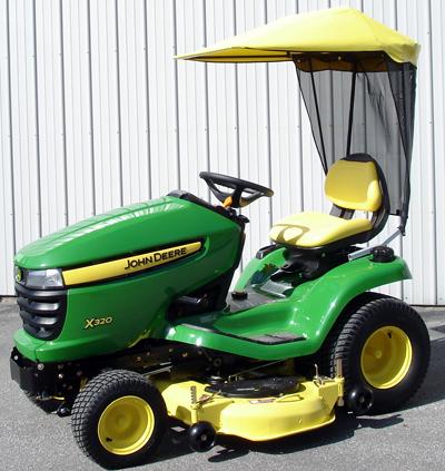 original tractor cab sunshade fits john deere x300 series. Black Bedroom Furniture Sets. Home Design Ideas