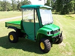 Green Vinyl Enclosure for Gator Canopies on 4X2 6X4 TS and TX Gators