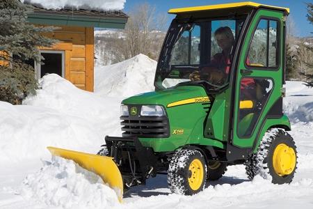 John Deere X700 Series 54 Inch Snow Blade Package