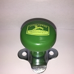John Deere Steering Wheel Spinner, Classic Logo in Yellow on Green Knob