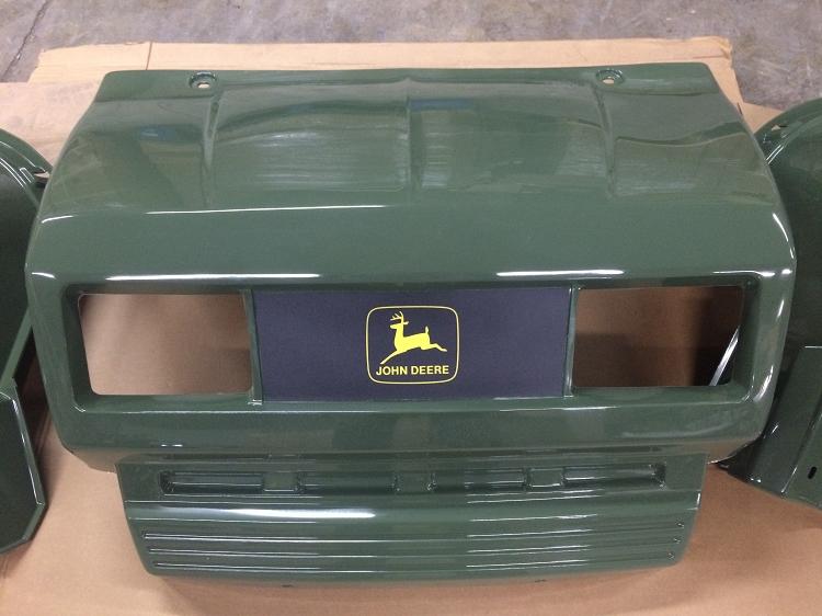John Deere Front Fenders Frames : John deere trail gator hood and front fender kit fits