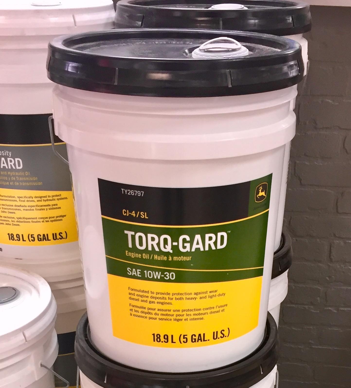 John Deere Sae 10w30 Torq Gard Engine Oil 5 Gallon Bucket