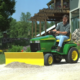 John Deere 48 inch Front Blade for 200 Series, 320, GT, 325, 335, 345,  355D, and GX Garden Tractors 3481M