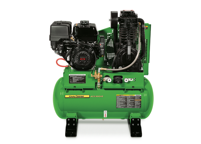 John Deere Air Compressors Shopgreendealer >> John Deere Ac2 30ghs Stationary Gasoline Two Stage Air Compressor Ac2 30ghs
