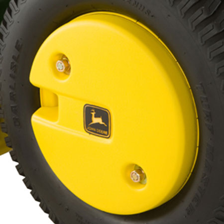 John Deere Gator >> John Deere 50-lb Plastic-Shell Rear Wheel Weight Kit - BM17976
