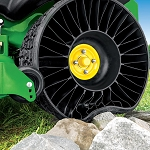 Michelin X Tweel Turf Rear Tire Set for 24x12N-12 with John Deere Z900 Z-Traks