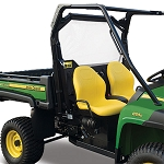 John Deere Heavy-Duty XUV OPS Soft Rear Screen - Black