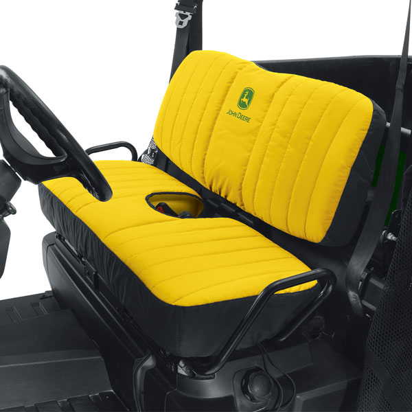 John Deere Mid Size Bench Seat Cover Yellow Lp66449