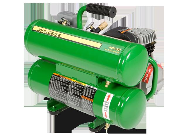 John Deere Air Compressors Shopgreendealer >> John Deere Hr1 5e Hand Carry Electric Air Compressor 5 Gallon 2 Hp Hr1 5e