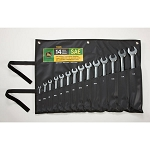 John Deere SAE 14-piece Full Polished Combination Wrench Set