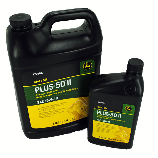 John Deere Plus 50 II 15W 40 Engine Oil TY26674 TY26673