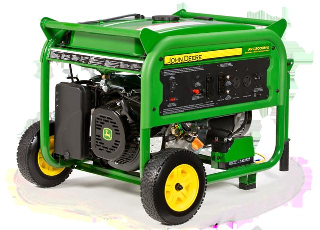 John Deere Pr G8000m E Electric Start Portable Generator