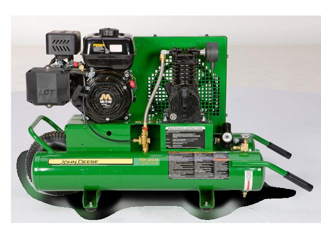John Deere Air Compressors Shopgreendealer >> John Deere Pr1 8gm 8 Gallon Twin Tank Single Stage Air Compressor Pr1 8gm