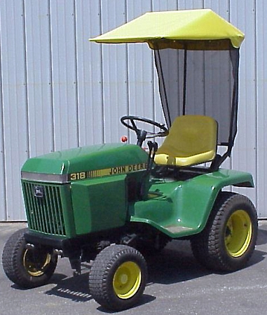 sunshade fits john deere 300 and 400 series tractors. Black Bedroom Furniture Sets. Home Design Ideas