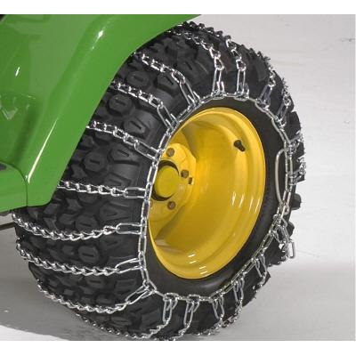 2 Link TIRE CHAINS /& TENSIONERS 18x6.5x8 for John Deere Lawn Mower Tractor Rider