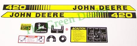 John Deere 420 Lawn And Garden Tractor Decal Set Part 40