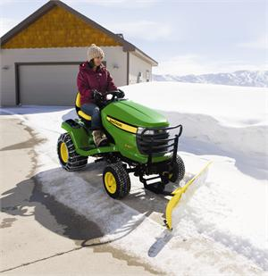John Deere 44 Inch Front Snow Blade For 2006 15 X300 Series Lawn Tractors Tap To Expand