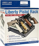 Liberty Pistol Rack For 4 Pistols with Slide Out Drawer