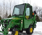 Curtis Cab For John Deere 1023E and 1025R With Forward ROPS 1JD1FCA