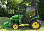 Curtis Cab For John Deere 2 Family with Straight ROPS 1JD2FCAG