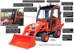 Curtis Soft Side Deluxe Cab for Kubota BX70 and BX25D