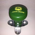 John Deere Steering Wheel Spinner, Current Logo in Yellow on Green Knob