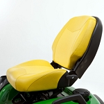 21 Inch Professional Two-piece Seat with Four Bar Suspension and Slide