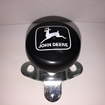 John Deere Steering Wheel Spinner, Classic Logo in White on Black Knob