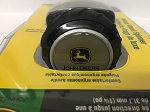 John Deere Deluxe Steering Wheel Spinner Knob, Gray, Black Yellow Current Logo