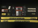 John Deere Complete Decal Kit for 425 Serial Number above 070000