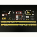 John Deere Complete Decal Kit for 455 Serial Number below 070000