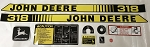 John Deere 318 Tractor Decal Kit