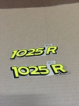 John Deere 1025R Compact Utility Tractor Model Labels