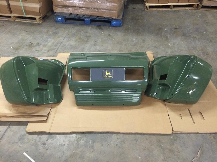 John Deere Gator Front Fender : John deere trail gator hood and front fender kit fits