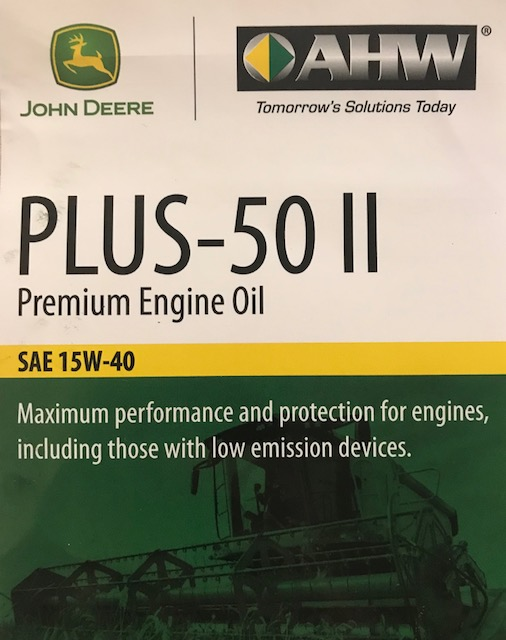 John Deere Plus 50 II 15W40 CK-4 E9 Oil in 55 Gallon Drum TY26678