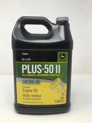 John Deere Plus-50 II CJ-4 Synthetic Blend Motor Oil 0W-40 (Gallon) TY26664