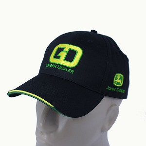 John Deere Green Dealer Hat with GD Logo and Phone Number