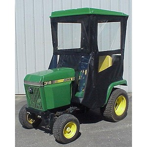 Hard Top Cab Enclosure Fits John Deere 318 420 and 430 Tractors