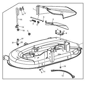 john deere la115 engine diagram john deere replacement 42-inch mower deck housing | ebay john deere 4024 engine diagram #10