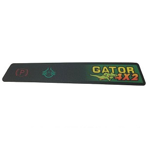 Instrument Panel Indicator Label for 4X2 Gas Gators Below Serial Number 021060