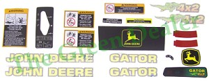 John Deere 4X2 Gator Latest Style Decal Kit