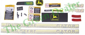 John Deere 4X2 Gator Older Style Decal Kit