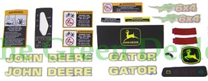 John Deere 6x4 Gator Latest Style Decal Kit