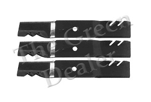 48C and 48A Accel Deep Gator Blade Set For John Deere Mowers (3 Blades)